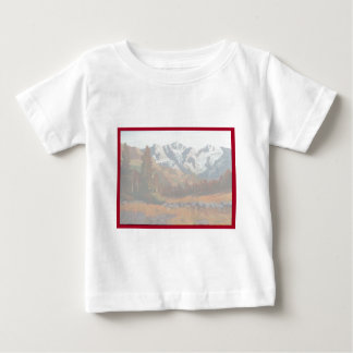 Scenic Mountain Wedding Invitation Set Baby T-Shirt