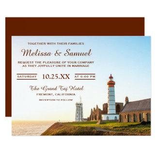 Scenic Nautical Lighthouse Wedding Invitation