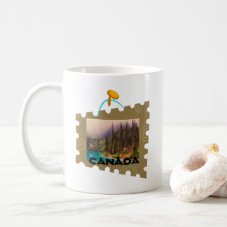 Scenic Northern Landscape in a Stamp Frame Coffee Mug