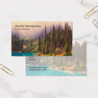 Scenic Northern Landscape Rustic Business Card