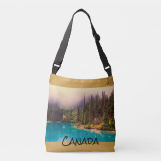 Scenic Northern Landscape Rustic Custom Crossbody Bag