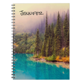 Scenic Northern Landscape Rustic Personalised Spiral Notebooks