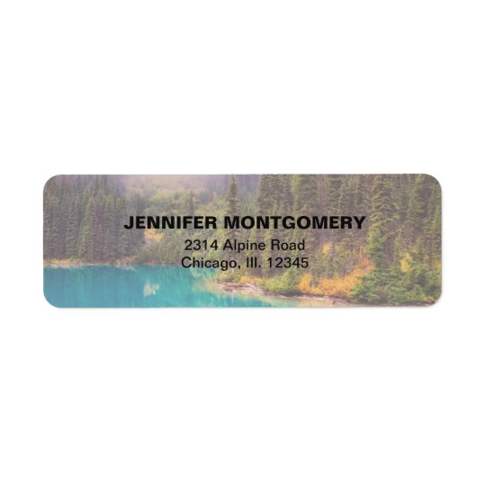Scenic Northern Landscape Rustic Return Address Label
