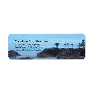 Scenic Ocean Coastline Return Address Label