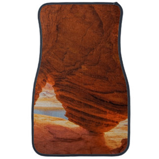 Scenic of eroded sandstone cave car mat