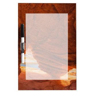 Scenic of eroded sandstone cave dry erase board