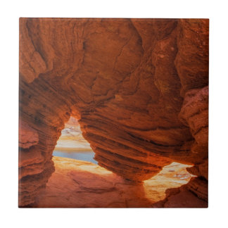 Scenic of eroded sandstone cave tile