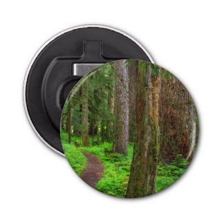 Scenic of old growth forest bottle opener