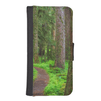 Scenic of old growth forest iPhone SE/5/5s wallet case