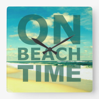 Scenic On Beach Time Wall Clock