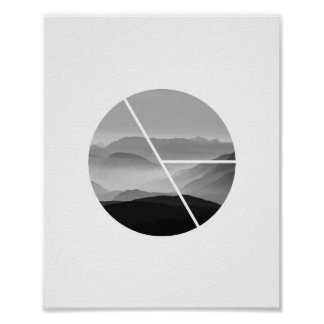 Scenic Photo Poster | B&W Mountain Art