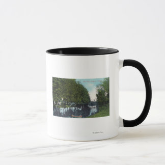 Scenic River with Canoe SceneEugene, OR Mug