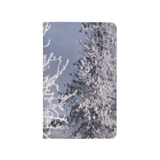 Scenic Snow Covered Trees Winter Forest Beauty Journal