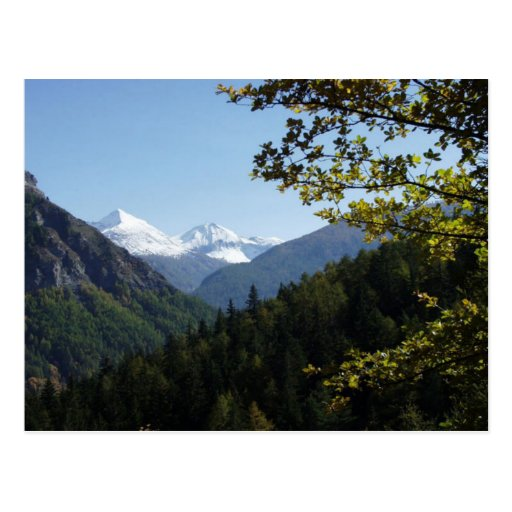 Scenic  Snowcapped Mountain Post Card