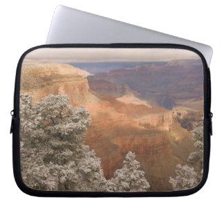 Scenic snowy winter landscape along the south laptop sleeve