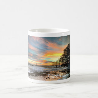 Scenic South Dakota Winter Sunset Mug