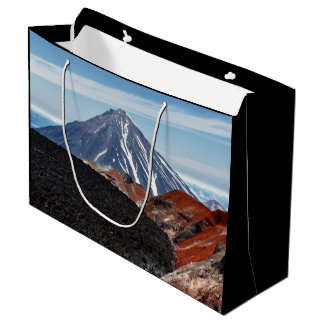 Scenic summer panorama volcano landscape large gift bag