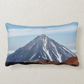 Scenic summer volcanic landscape lumbar cushion