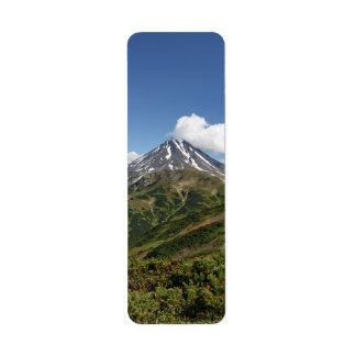 Scenic summer volcanic landscape of Kamchatka Return Address Label