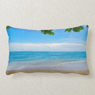 Scenic Tropical Beach Sun Sand and Surf Lumbar Cushion