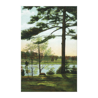 Scenic View at Chestnut Hill Reservoir Canvas Print