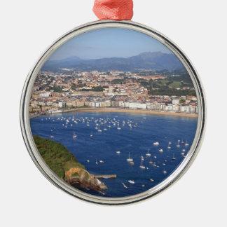 Scenic view of beautiful San Sebastian coastline Christmas Ornament