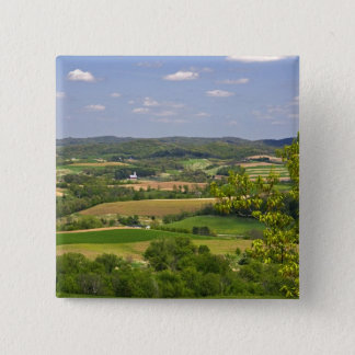 Scenic view of farmland south of Arcadia, 2 15 Cm Square Badge