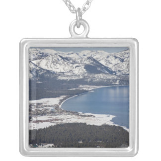 Scenic view of Lake Tahoe, USA Silver Plated Necklace