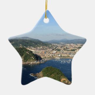 Scenic view of San Sebastian Christmas Ornament
