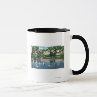 Scenic View of Swans on the Lake Mug