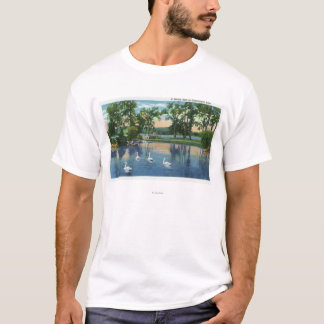 Scenic View of Swans on the Lake T-Shirt