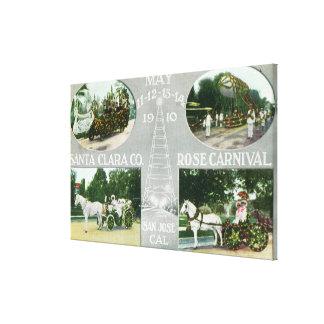 Scenic Views of the Santa Clara Co Rose Canvas Print