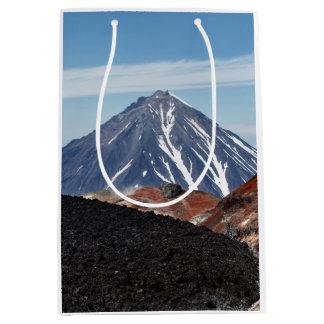 Scenic volcanic landscape medium gift bag