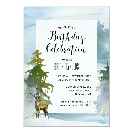 Scenic Winter Birthday Invitation