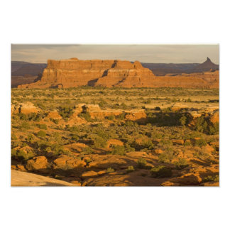 Scenic winter desert landscape on the way into 2 photo print