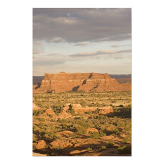Scenic winter desert landscape on the way into photo print