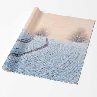 Scenic Winter Landscape Trees with Hoarfrost  Gift Wrapping Paper