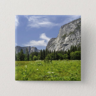Scenic Yosemite Valley, California 15 Cm Square Badge