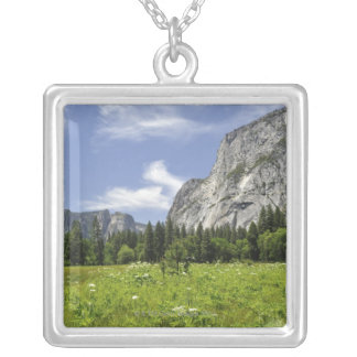 Scenic Yosemite Valley, California Silver Plated Necklace