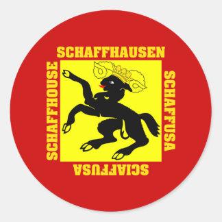 Schaffhausen Switzerland Canton Flag Classic Round Sticker
