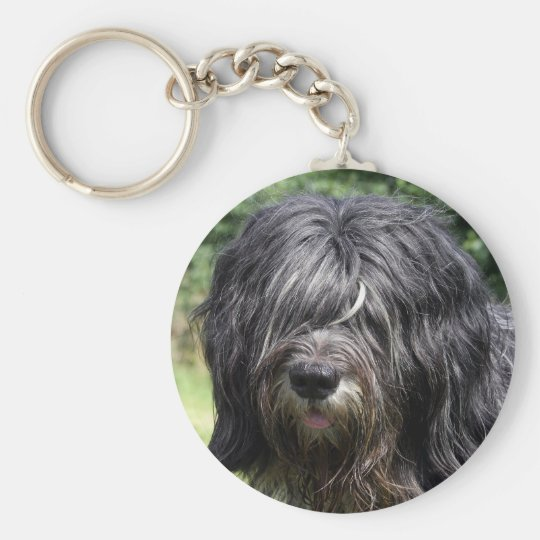schapendoes basic round button key ring