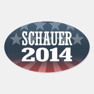 SCHAUER 2014 OVAL STICKERS