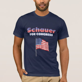 Schauer for Congress Patriotic American Flag T-Shirt