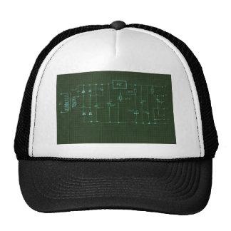scheme electronic circuit trucker hat