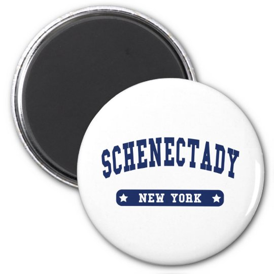 Schenectady New York College Style tee shirts Magnet
