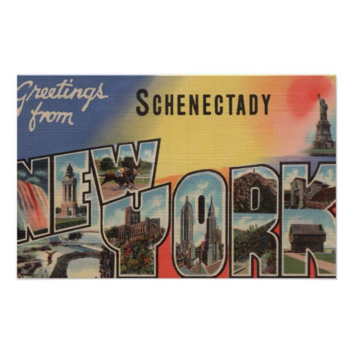 Schenectady, New York - Large Letter Scenes Print