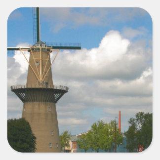 Schiedam, windmill square sticker