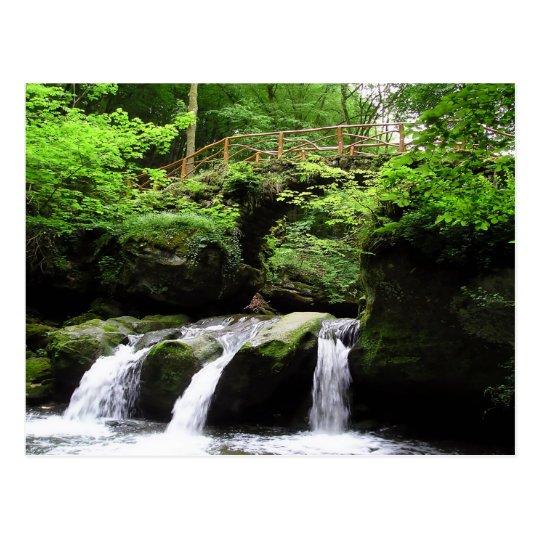 Schiessentümpel waterfall valley Ernz Luxembourg Postcard