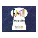 Schild, Privat, Mitteilung Postkarten