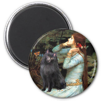 Schipperke 2 - Ophelia Seated 6 Cm Round Magnet